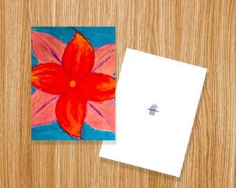 Floral Pinwheel Card