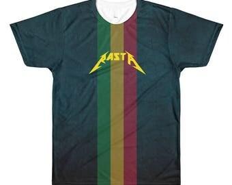 Rastafarian Inspired Clothing | YZY Soft Rock Sublimation Men's Crewneck T-Shirt | Rasta Couture