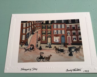 Greeting card photo of original painting