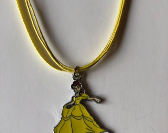 Beauty and the beast belle necklace