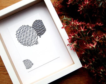 Bunya 3 Letterpress Print