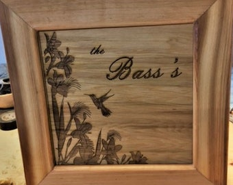 Framed Cedar Family Sign Indoor Outdoor