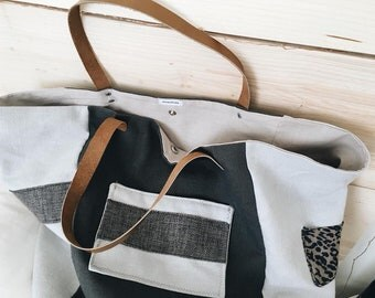 Tote leather straps