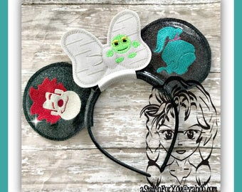 WReCK DuDE & CaNDY GiRL Characters (3 Piece) Mr Miss Mouse Ears Headband ~ In the Hoop ~ Downloadable DiGiTaL Machine Emb Design by Carrie