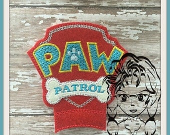 PuPPY PaTROL Center (Add On ~ 1 Pc) Mr Miss Mouse Ears Headband ~ In the Hoop ~ Downloadable DiGiTaL Machine Embroidery Design by Carrie