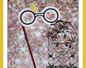 "HP ""GLASSES"" 4 Themed Holiday Party PHoTO PRoP 4 Parties and Games ~ In the Hoop ~ Downloadable DiGiTaL Machine Embroidery Design by Carrie"