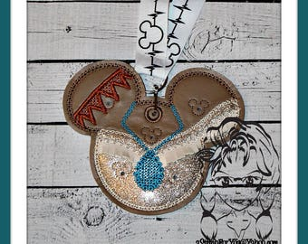 INDIAN PRiNCESS Pin Lanyard Display Mousehead Pin Trader ~ In the Hoop ~ Downloadable DiGiTaL Machine Embroidery Design by Carrie