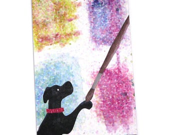Art Postcards, Dog Postcards, Set of 4, Seurat, Pointillist, Painter