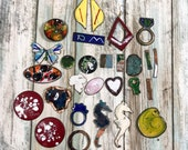 Bulk Lot of Copper Enamel Craft Jewelry Pieces for Recycling Re Enameling Mosaic SALE