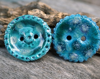 Handmade Button Set of Two
