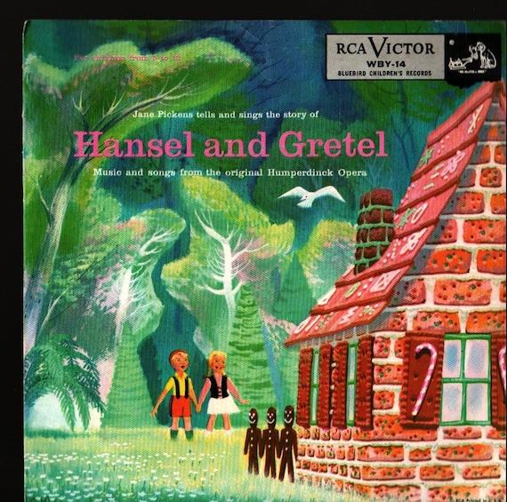Hansel and Gretel  - Jane Pickens and Humperdinck - Vintage Record Book