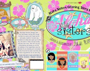 Aloha Sisters Coloring Story Book
