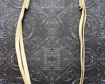 5mm Natural Tan Leather and Antiqued Brass Clasp Necklace Kit - 13 inch length