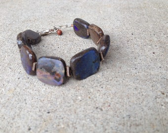 boulder opal braclet