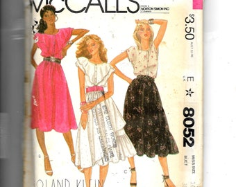 McCall's Misses' Top and Skirt Pattern 8052