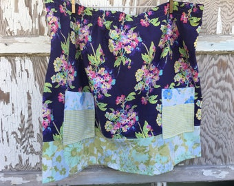 Flea Market Skirt- Eco Friendly Reclaimed Fabrics-Womens-XXL