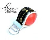 LippyLoop™ EOS Holder Keychain, Black with Gold Arrows  | Free Shipping