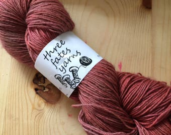 Csa carrot - aurai fingering weight merino yak nylon sock yarn, dyed to order