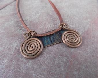 BURNISHED POOLS  Handforged copper necklace