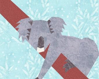 PATTERN Hanging Koala quilt block PRINTED PATTERN