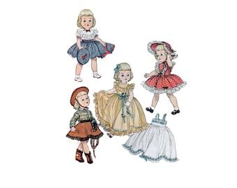 19 inch uncut Original Doll Clothes pattern Cowgirl Doll Clothes Doll Dress pattern Doll Gown pattern vintage Saucy Walker Simplicity 3729