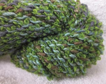 Hanspun ART Boucle Yarn (Mohair, Alaca, Silk, Merino) (Fairies in the Woods) 88 yards