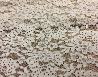 Floral Pattern Lace Fabric 1- 1/4 Yard