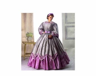 SALE Civil War Dress Gown Costume Reenactment Simplicity 2960 Sewing Pattern Size 8 - 10 - 12 - 14 Uncut