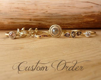 Custom wedding bands - for Deanna