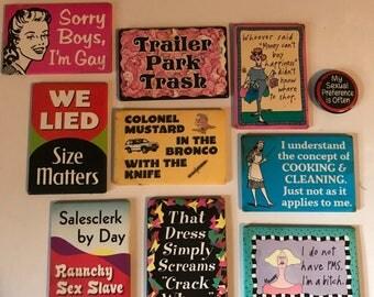 Trash Talking Fridge Swag Magnets