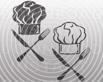 Chefs Hat SVG File,Kitchen SVG,BBQ svg -Vector Art for Commercial & Personal Use- Cricut Explore,Silhouette,Cameo,Vinyl Decal