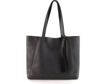 June Tote- All Leather