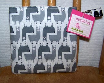 Reusable Little Snack Bag - pouch adults kids llamas eco friendly by PETUNIAS