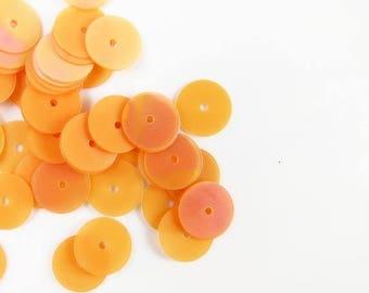 Summer Sale Gutermann Premium 8mm Flat Round Sequins - Peach10  grams - 1645