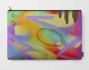 Funky Abstract Art Clutch Bag Purse Handbag Cosmetics Bag Carry All Pouch