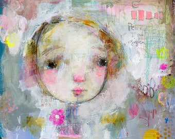 Soul Girl - mixed media art print by Mindy Lacefield