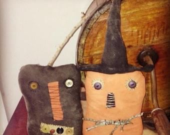 CustomerAppreciationSale Primitive Halloween Smiley and Jack