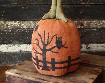 Primitive Halloween Silhouette Pumpkin Pattern, Digital PDF Pattern, 3 Silhouette Designs, Halloween Silhouette, Holiday Decor