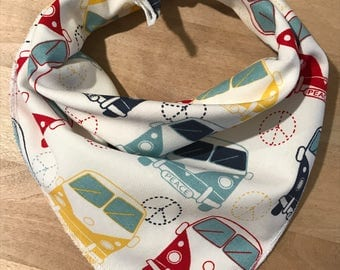 Lovebus Dog Bandana, Cat Bandana, Designer Bandanas, Pet Bandana, Tie On Bandana, Pet Scarf, Dog Neckwear, Pet Gift, New Puppy