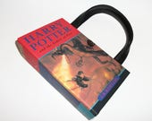 Book Purse Harry Potter Goblet of Fire, Handmade Book Clutch, Book Bag