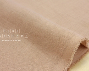 Japanese Fabric 100% linen - dusty pink -  50cm