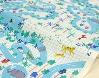 Cotton + Steel Lagoon - lagoon map natural - 50cm