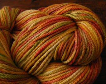 Handpainted Turkish Cotton Yarn 180yds 3.5 oz Worsted Weight Hand Painted Aspenmoonarts C049 knitting weaving