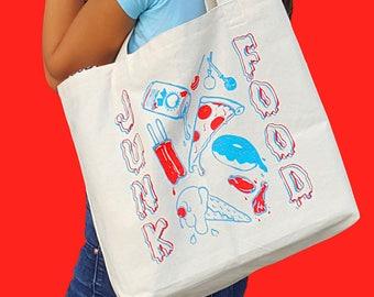 JUNK FOOD Large Tote Bag