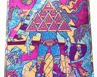 Ween LAVA FOIL Variant Portland Maine Boognish Gigposter Argus Iluminati Transdermal Celebration Poster 2017 by GIGART