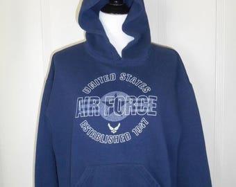 Closing shop SALE 40% off Vintage United States AIR Force  sweatshirt hoodie      USAF
