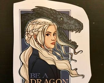 Individual Die Cut Be A Dragon sticker (Item 01-395)