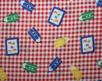 Cotton Fabric, Seersucker Fabric, Kids Fabric, School, Fabric By The Yard, Sewing Fabric, Fabric, Light weight Fabric, Back To School