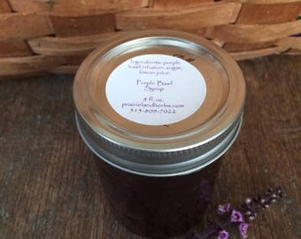 Purple Basil syrup, small batch artisinal syrups, perfect for drinks, cocktails, sweetening fruit salads and more