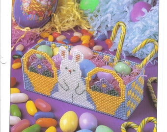 Easter Bunny Basket ~ plastic canvas pattern  ~  Annie's